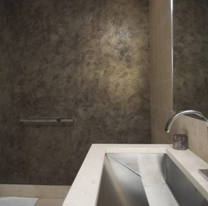Custom Venetian Plaster, Faux Finish & Decorative Wall Finishes in Bathrooms